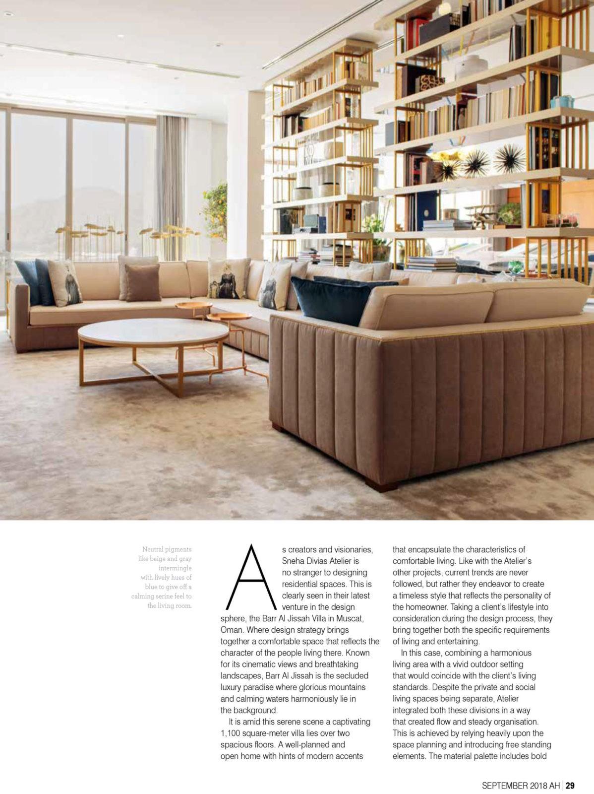 Sneha Divias Atelier -Arabian Homes Villa Bar Al Jissah