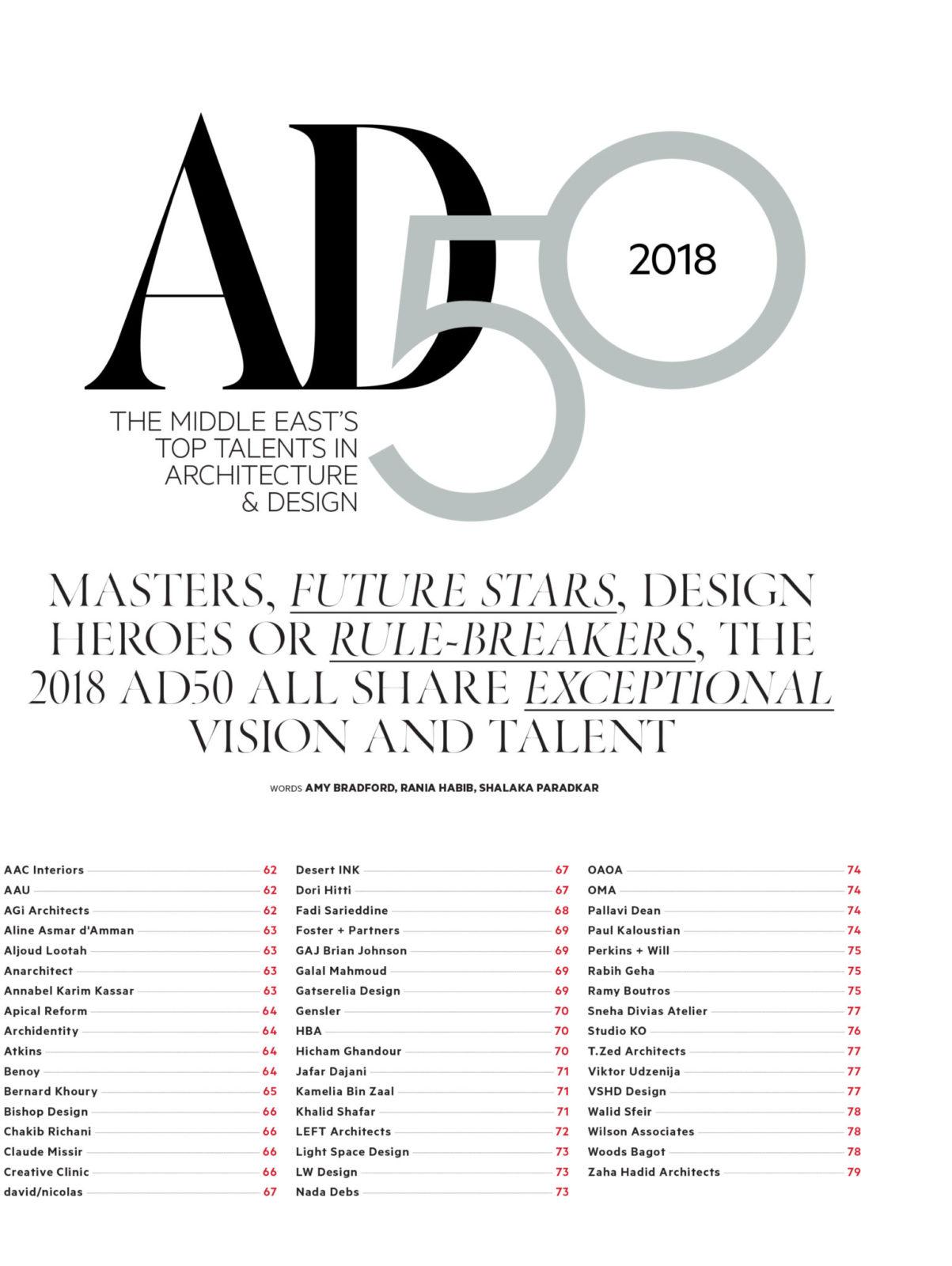 Sneha Divias Atelier -Architectural Digest AD50
