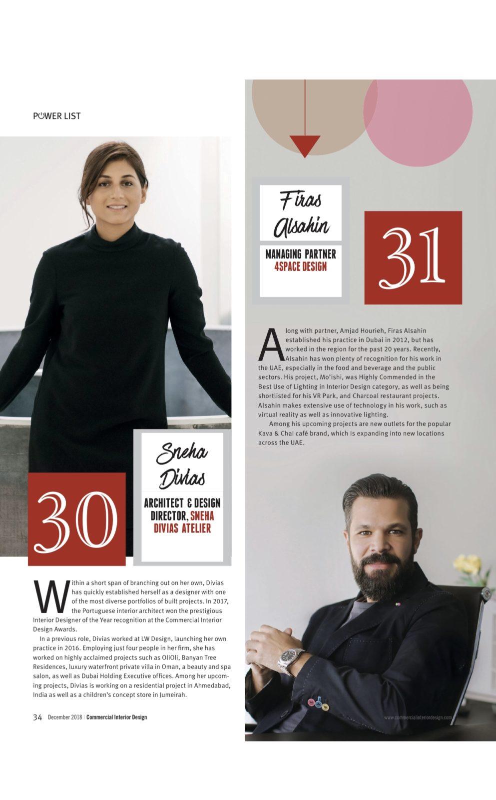 Sneha Divias Atelier -Commercial Interior Design PowerList