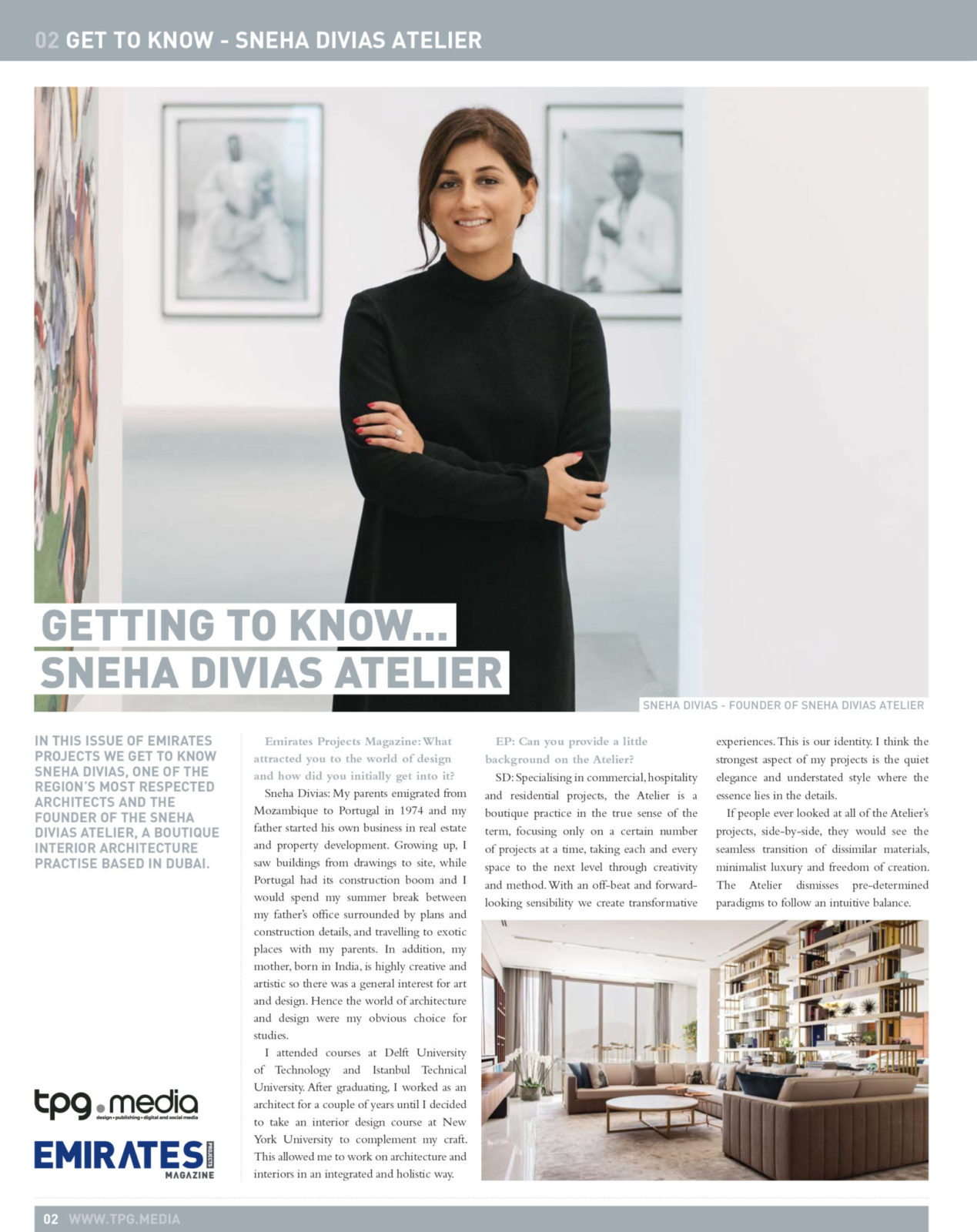 Sneha Divias Atelier -Emirates Projects Get to Know